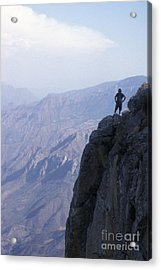 Acrylic Print featuring the photograph Alone At Last Copper Canyon Mexico by John  Mitchell