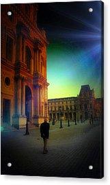Alone In Paris Acrylic Print