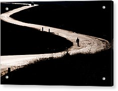 Alone On The Road Acrylic Print