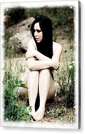 Alone Acrylic Print by Val Armstrong