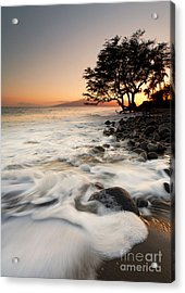Alone With The Sea Acrylic Print by Mike  Dawson