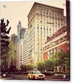 Along Park Avenue - New York City Acrylic Print