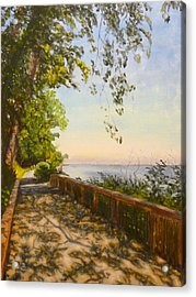 Acrylic Print featuring the painting Along The Bay by Joe Bergholm