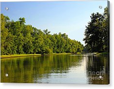 Along The Canal Acrylic Print by Sophie Vigneault