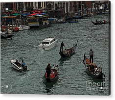 Acrylic Print featuring the photograph Along The Canal by Vivian Christopher