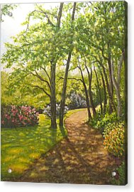Acrylic Print featuring the painting Along The Path by Joe Bergholm