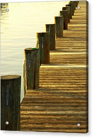 Along The Pier Acrylic Print