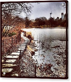 Along The Water. #centralpark #nyc Acrylic Print