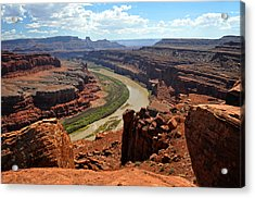 Along The White Rim Road Acrylic Print by Marty Koch