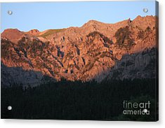 Acrylic Print featuring the photograph Alpenglow by Marta Alfred