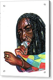 Alpha Blondy Acrylic Print by Emmanuel Baliyanga