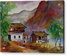 Alpine Hamlet Acrylic Print
