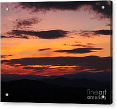 Alpine Sunset Acrylic Print