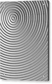Acrylic Print featuring the digital art Also Not A Spiral by Jeff Iverson