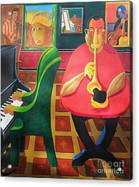 Jazz N Blues Had A Baby And Someone Named It Rock N Roll Acrylic Print