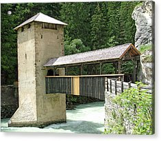 Altfinstermunz Bridge Nauders Switzerland Acrylic Print by Joseph Hendrix