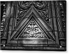 Alwyn Court Building Detail 13 Acrylic Print by Val Black Russian Tourchin