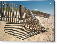Amagansett Beach Fence Acrylic Print by Joseph O. Holmes / portfolio.streetnine.com
