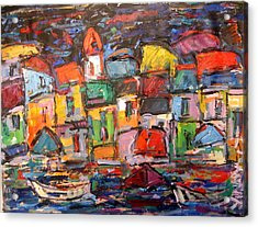 Amalfi At Night Acrylic Print