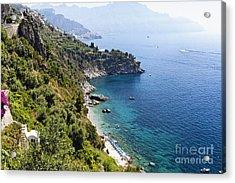 Amalfi Coast At Conca Dei Marini Acrylic Print by George Oze