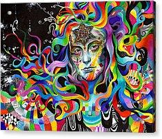 Amalgamation Acrylic Print by Callie Fink