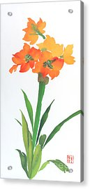 Acrylic Print featuring the painting Amaryllis by Yolanda Koh