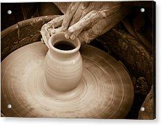 Amazing Hands Iv Acrylic Print by Emanuel Tanjala
