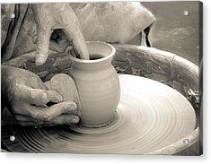 Amazing Hands Vi Acrylic Print by Emanuel Tanjala