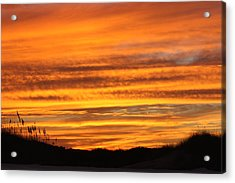 Amazing Sunset Over Obx Acrylic Print by Kim Galluzzo Wozniak