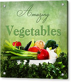 Amazing Vegetables Acrylic Print