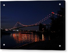 Ambassador Bridge At Night Acrylic Print