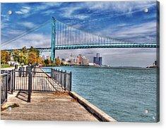 Ambassador Bridge Detroit Mi Acrylic Print