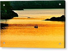 Amber Angling Acrylic Print by Brent Sisson