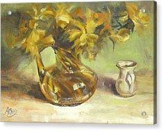Amber Display Acrylic Print by Patricia Seitz