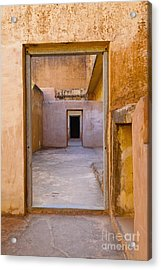 Amber Fort Doorway Acrylic Print by Inti St. Clair