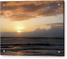 Amber Sunset Pacific II Acrylic Print