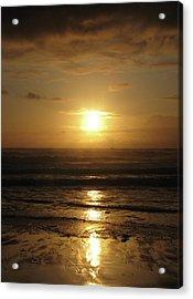 Amber Sunset Pacific IIi Acrylic Print