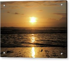 Amber Sunset Pacific Acrylic Print