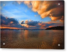 Ambers Sunset Acrylic Print by Paul Svensen