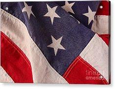 America Flag Acrylic Print by Ruby Hummersmith
