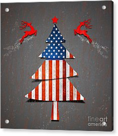 America X'mas Tree Acrylic Print