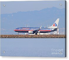 American Airlines Jet Airplane At San Francisco International Airport Sfo . 7d11837 Acrylic Print by Wingsdomain Art and Photography