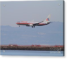 American Airlines Jet Airplane At San Francisco International Airport Sfo . 7d12212 Acrylic Print by Wingsdomain Art and Photography