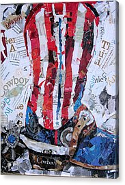 American Boot Acrylic Print by Suzy Pal Powell