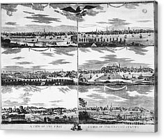 American Cities, C1810 Acrylic Print
