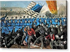 American Civil War, Battle Of Malvern Acrylic Print by Photo Researchers