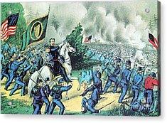 American Civil War, Battle Of Seven Acrylic Print by Photo Researchers