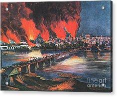 American Civil War Fall Of Richmond Acrylic Print by Photo Researchers