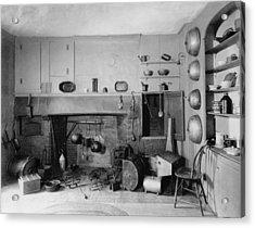 American Colonial Era Fireplace Acrylic Print by Everett