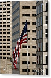 American Flag In The City Acrylic Print by Blink Images